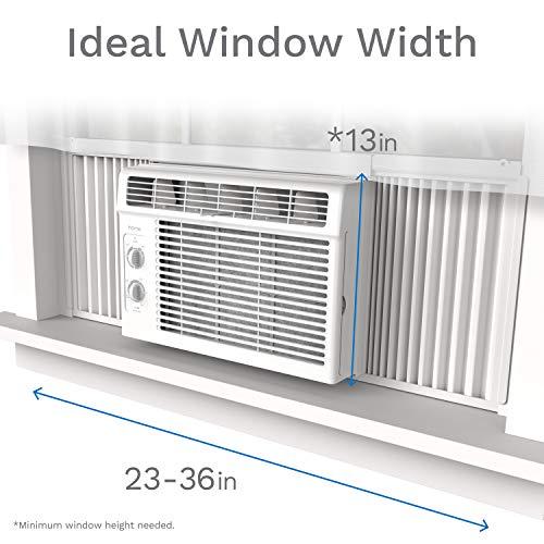 Homelabs 5000 Btu Window Mounted Air Conditioner 7 Speed