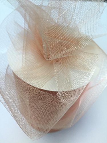 Tulle Fabric Spool/Roll 6 inch x 100 yards (300 feet), 34 Colors Available, On Sale Now! ()