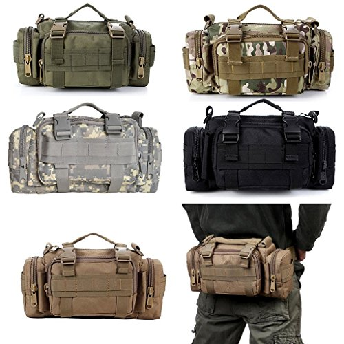 Amazon.com : L-Peach Multi-functional Tactical 1000D Nylon Molle Military Messenger Bag High-Capacity Shoulder Deployment Bag for Outdoor Traveling Hunting ...