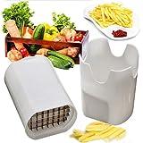 Cflagrant® Coupe Frite / Legumes Manuel Génial - Livré avec 2 grilles de coupe - coloris aléatoire