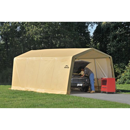 ShelterLogic 10 x 20- Feet New Auto Shelter,Tan, Outdoor Stuffs