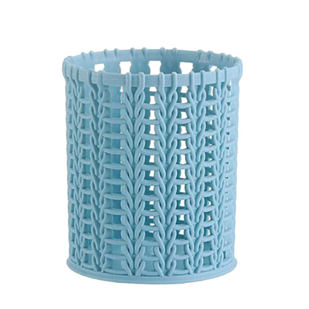 FIged Stationary Supplies, Plastic Compact Basket Storage Bin Box Container Organizer Desk Desktop Office School Pen Holder Stationery Bathroom
