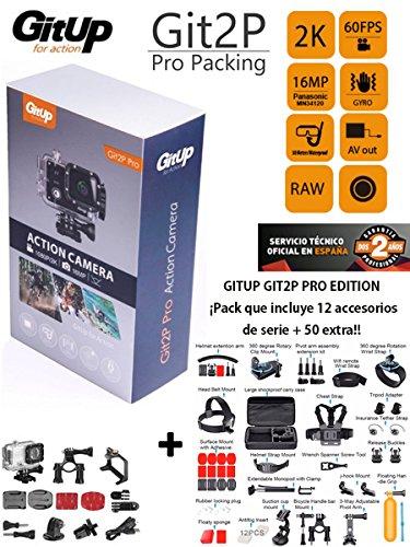 Camara deportiva GITUP GIT2P PRO +MALETA 50 accesorios EXTRA ...