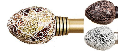 Siena Home Fashions Mosaic Curtain Rod Set Gold 48 86