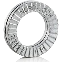 "Wedge Locking Washer, Carbon Steel, Zinc Flake Coated, M8 (5/16""), 20 Pack"