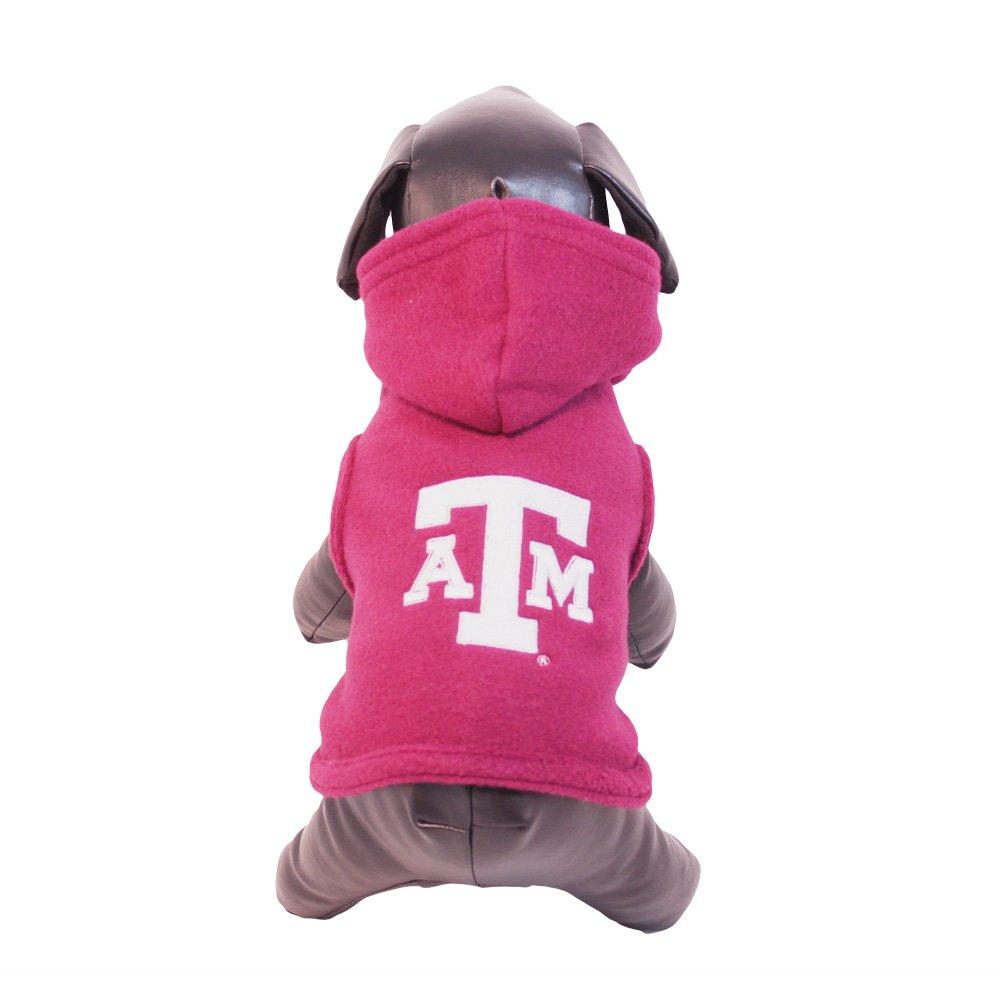 NCAA Texas A&M Aggies Polar Fleece Hooded Dog Jacket, Tiny