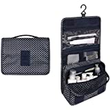Itraveller Portable Hanging Toiletry Bag/ Portable Travel Organizer Cosmetic Bag for Women Makeup or Men Shaving Kit with Hanging Hook for vacation