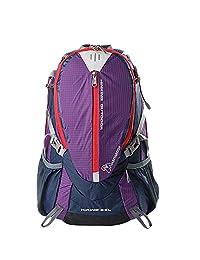 Mountaintop® Outdoor Hiking Climbing Cycling Backpack Waterproof Mountaineering Bag M509 Rucksacks 25L Unisex Daypacks Travel Bag (Purple)