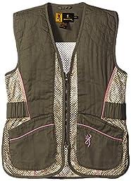 Browning Junior Vest for Her, Sage/Pink, XX-Large