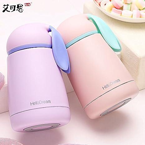 300 ml Portable Thermos tasse lapin Isotherme Vide Thermique Bouteille D/'eau Tasse