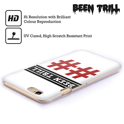 Official Been Trill Red Double Hashtag Jersey Hard Back Case for Apple iPhone 3G / 3GS
