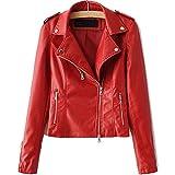 LJYH Women's Zipper Motorcycle Biker Faux Leather Jackets