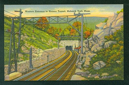 Western Entrance Hoosac Tunnel Mohawk Trail Massachusetts MA Railroad Postcard