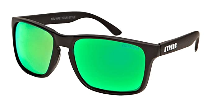 KYPERS Coconut Gafas de sol, Matte Black - Green Mirror, 57 Unisex