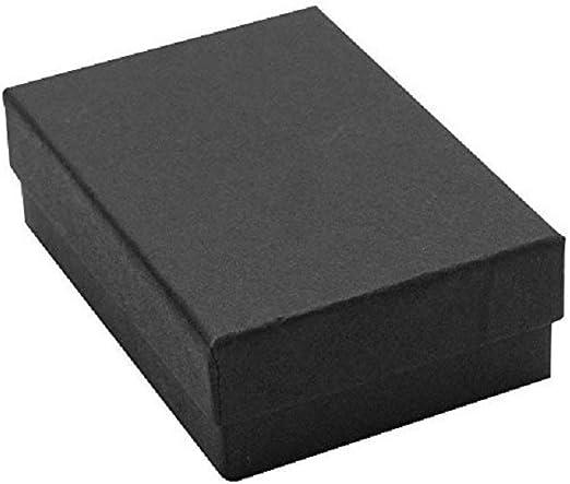 Black Matte Kraft Cotton Filled Gift Boxes Jewelry  Box Lots of 12~25~50~100
