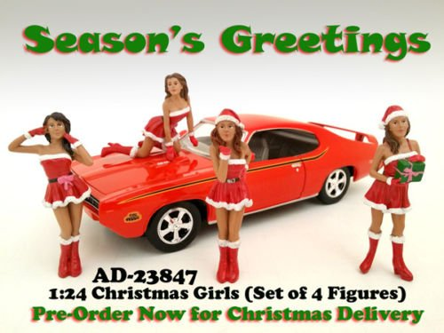 """Set of 4 Figures: """"Christmas Girls"""" 1:24 Scale, Special for sale  Delivered anywhere in USA"""