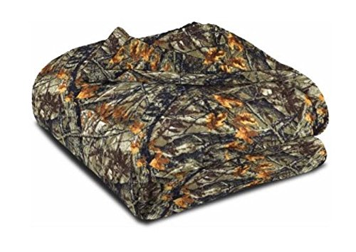 Mainstays Camouflage Plush Throw Banket Manta Afelpada