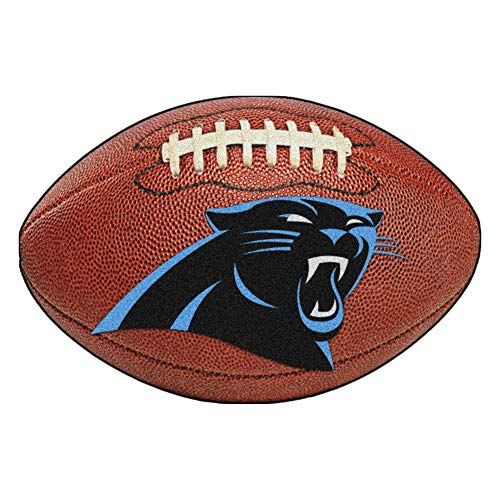 FANMATS NFL Carolina Panthers Nylon Face Football Rug