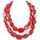 Double strands Red Sea Coral Huge Necklace 20-22''N17050417p Gift Ideas!!!
