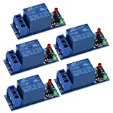 UEB 5Pcs 12V 1 Channel Relay Module Optocouple Board Shield for PIC AVR DSP ARM