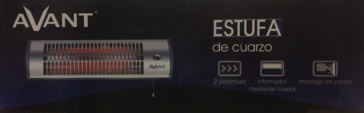 AVANT Estufa de cuarzo 1200W Calefactor Calentador Radiador casa baño Pared halogeno: Amazon.es: Hogar