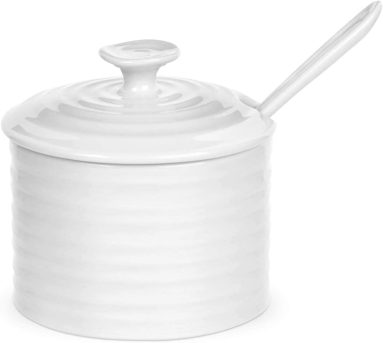 Portmeirion Sophie Conran White Conserve Pot with Spoon