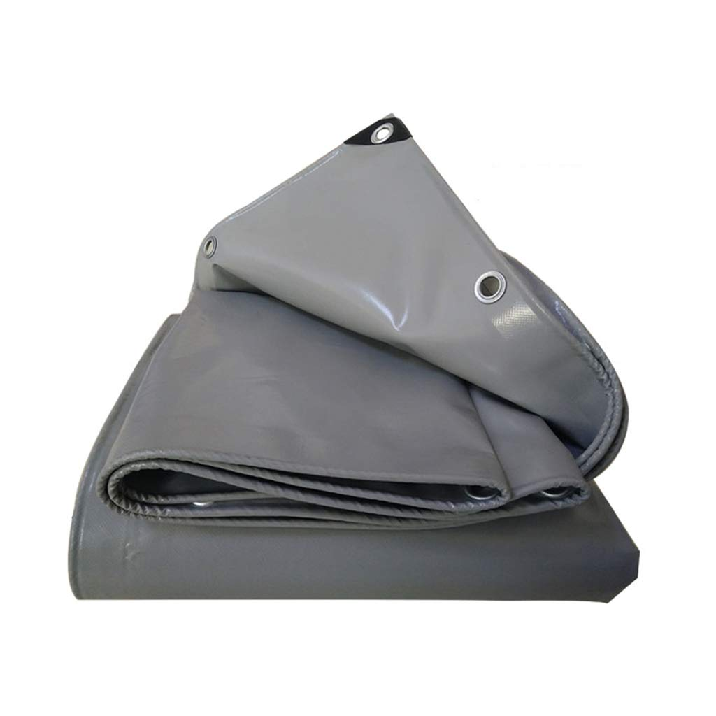 YEIUY Wasserdichtes Planengrau - Gewebe mit hoher Dichte, Sonnenschutzregen 100% im Freien, Starke Staubmarkisenplane, kampierende Fischenmatte, mehrfache Größen