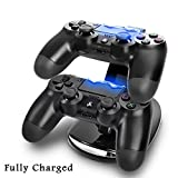 Crazy Genie Dual USB Charging Charger Docking Station Stand for Playstation 4 PS4 Game Controller