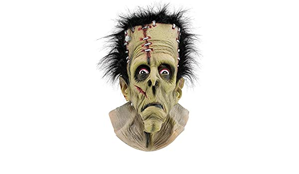 Halloween FRANKENSTEIN MASK OVER HEAD MASK (máscara/careta): Overhead mask: Amazon.es: Juguetes y juegos