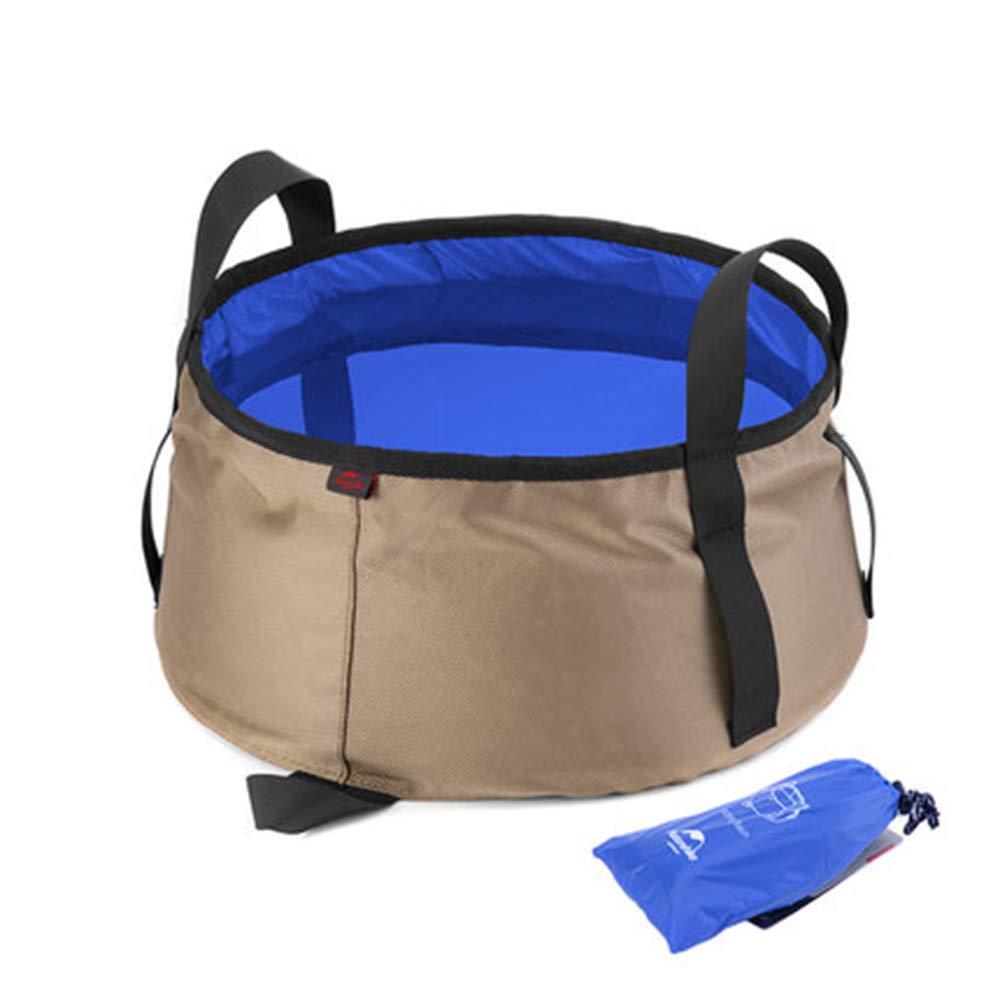 bluee Lightweight Folding washbasin Travel Travel Outdoor Bucket Portable Folding Basin wash Basin