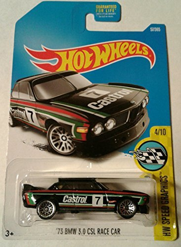 Bmw Csl Wheels - Hot Wheels 2017 HW Speed Graphics '73 BMW 3.0 CSL Race Car 57/365, Black