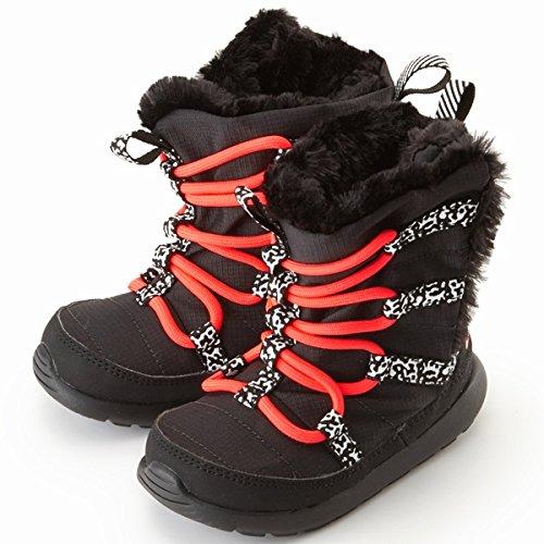 Nike Baby Girl's Rosherun Hi Sneakerboot (PTV) Black/Hyper Punch-White 654493 003 Size 12c