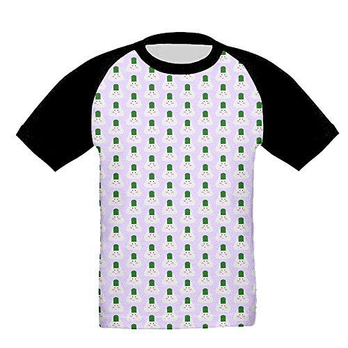 Kids Rice Balls Baseball Raglan Short Sleeves T Shirt Sports Crew Uniforms Slim - Scuderia West