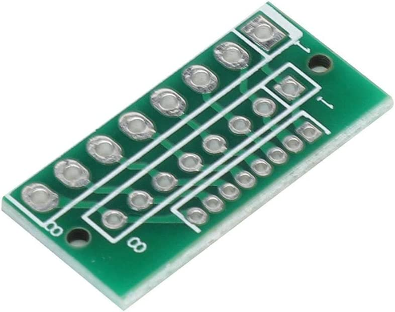 943 Adapter Board,8 Pin 3 Row 24 Holes Adapter Board for 1.27MM 2.0MM 2.54MM 8 pin wireless modules adapter board,durable and sturdy