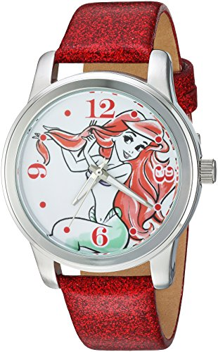 Disney Women's 'Ariel' Quartz Metal Casual Watch, Color:Red (Model: WDS000076)