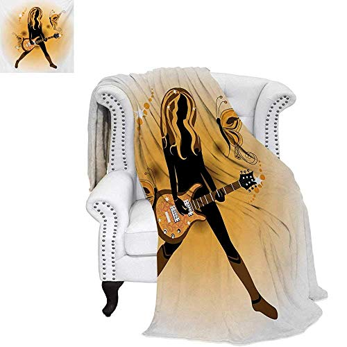 CHASOEA Popstar Party Digital Printing Blanket Girl Silhouette