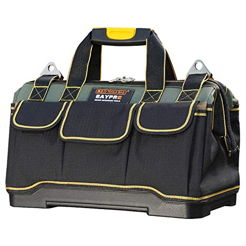 - 18 Inch Waterproof Tools Bag Close Top Heavy Duty Molded Base Tool Bag Storage Box with Shoulder Strap