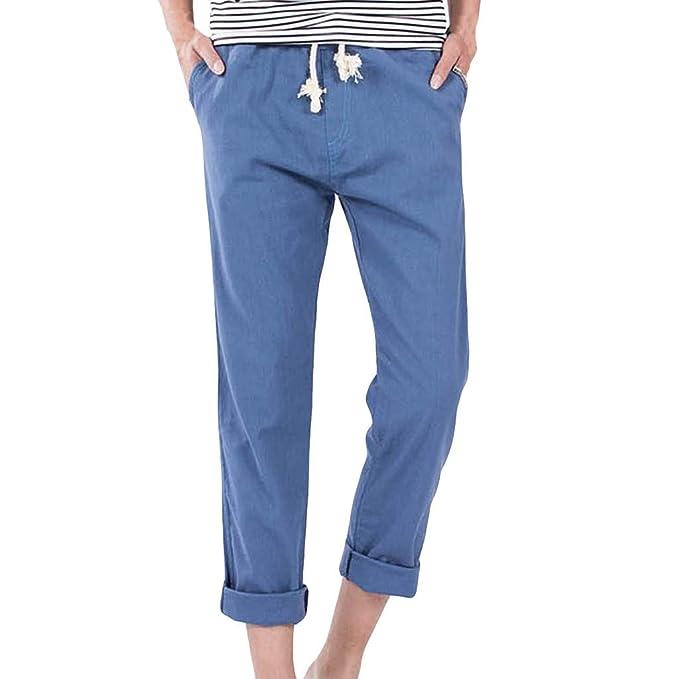 Modaworld Pantalones De Trabajo para Hombre Multibolsillos ...