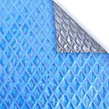 Pool Mate 2040RS-8SBD BOXPM Deluxe Solar Blanket for In-Ground Pools, 20' x 40' Rectangle Pool, Blue/Silver