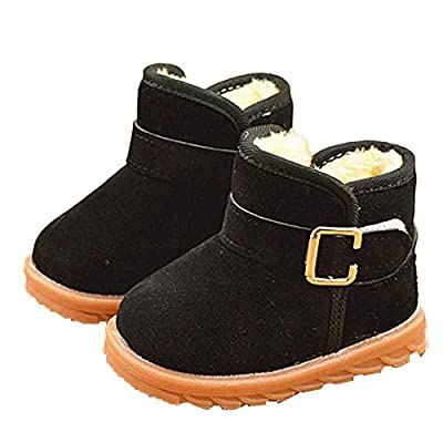 Tronet Winter Kids Shoes, Toddler Baby Girls Keep Warm Solid Casual Solid Color Flock Non-Slip Snow Boots