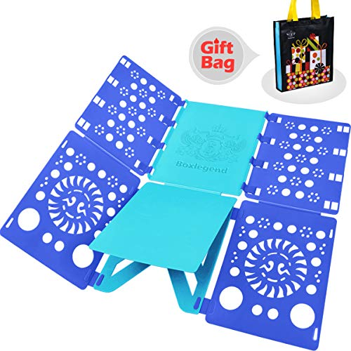 BoxLegend Shirt Folding Board t Shirts Clothes Folder Durable Plastic Laundry folders Folding Boards flipfold (Blue & Turquoise) (Blue & Turquoise)