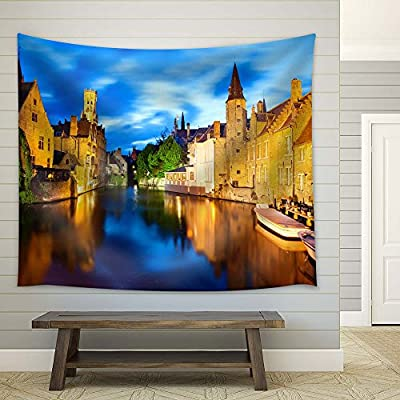 Premium Creation, Unbelievable Expert Craftsmanship, Night View of Canal in Bruges