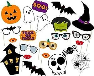 Halloween Photo Booth Props Photocalls DIY Máscaras Foto ...