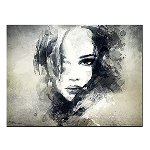 CHARM HOME Modern Canvas Prints Artwork Beauty Portrait Poster Ink Painting Contemporary Art Abstract Painting Home Decorations For - Rectangle Picture Frame Charms