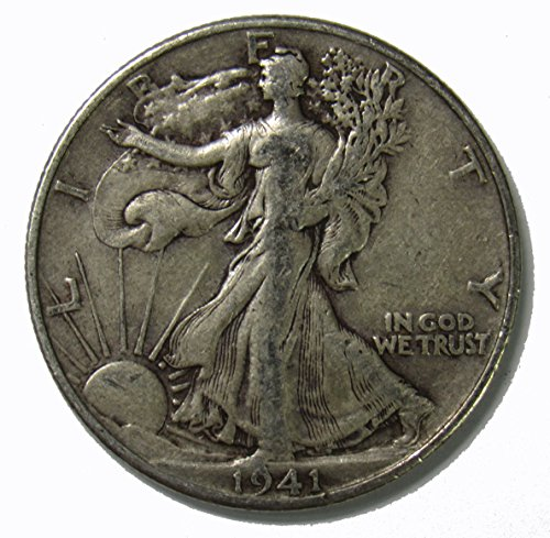 1941 D Walking Liberty Half Dollar 50c Very Fine
