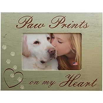 Amazon.com - Paw Prints On My Heart Dog Pet Memorial 4x6 Wood ...