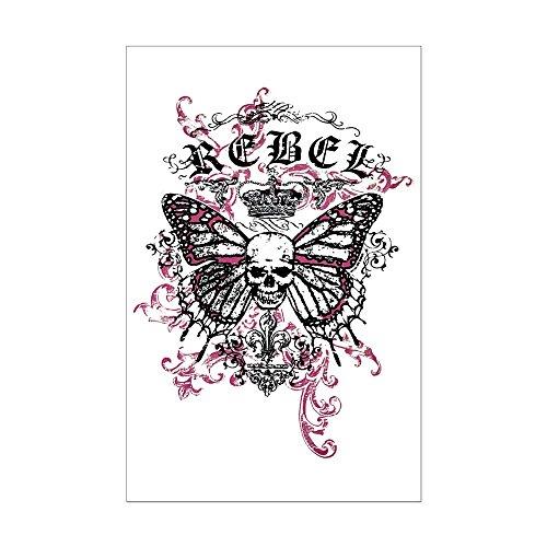Mini Poster Print Rebel Butterfly Skull ()