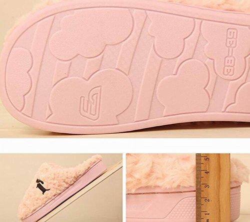 [hond Grijze] Vrouwen Comfortabele Pluche Pantoffels Winter Slippers Fuzzy Indoor Slippers