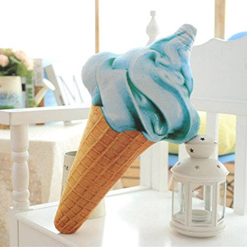Bokeley Creative 3D Ice Cream Doll Plush Toy Pillow Cushion Bed Home Decor Gift Cushion (A(27cm))