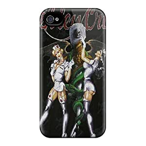 Scratch Protection Hard Cell-phone Cases For Apple Iphone 4/4s (xwj12110okJe) Custom Colorful Motley Crue Series